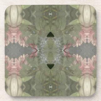 Extracto natural del efecto de Camo del rosa verde Posavasos De Bebidas