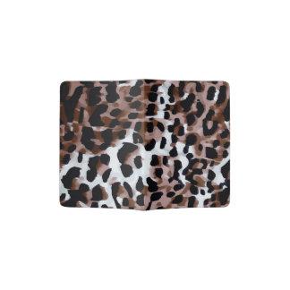 Extracto negro blanco del guepardo de Brown Porta Pasaporte