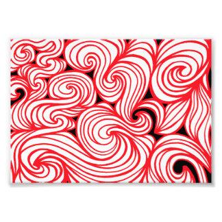 Extracto negro blanco rojo cojinete