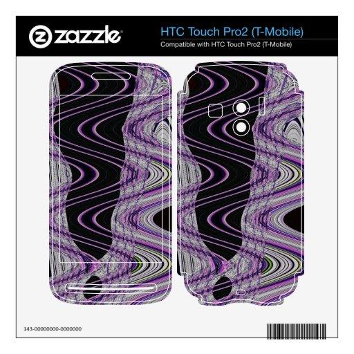 extracto negro de la MOD de la púrpura HTC Touch Pro2 Skins