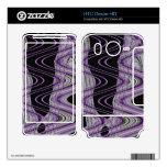 extracto negro de la MOD de la púrpura HTC Desire HD Calcomanías