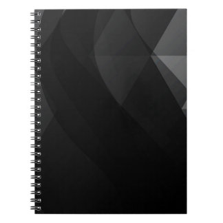 Extracto negro de la onda libro de apuntes con espiral