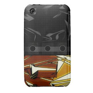 Extracto negro de lujo de Brown iPhone 3 Case-Mate Carcasa
