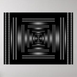 Extracto negro de Vision del rectángulo de la impr Impresiones
