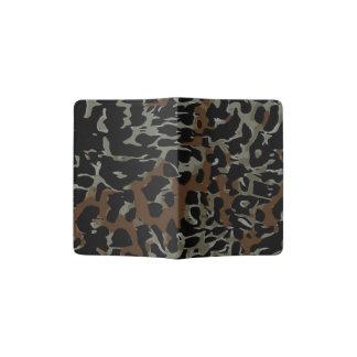 Extracto negro oscuro del guepardo de Brown Porta Pasaporte