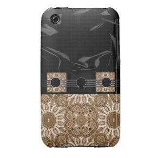 Extracto negro poner crema de lujo iPhone 3 Case-Mate protector