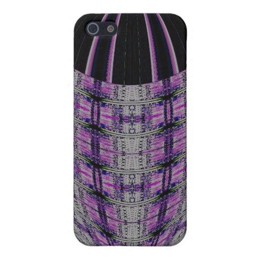 extracto negro púrpura del círculo iPhone 5 carcasas