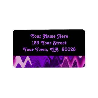 extracto negro púrpura etiquetas de dirección