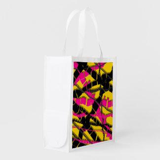 Extracto negro rosado brillante bolsa para la compra