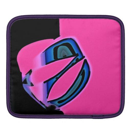 Extracto negro rosado mangas de iPad