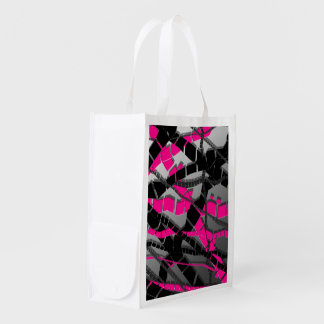 Extracto negro rosado bolsa para la compra