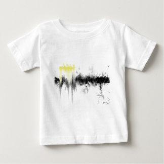 Extracto negro y amarillo playera de bebé
