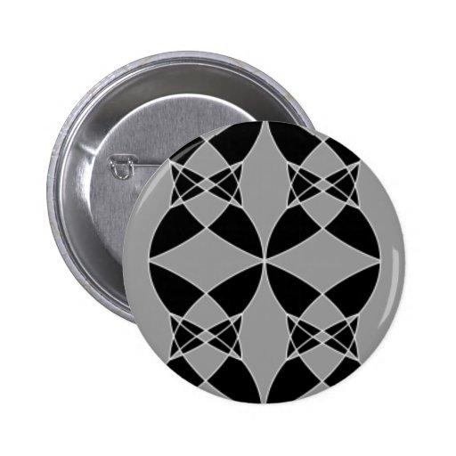Extracto negro y gris pin redondo 5 cm