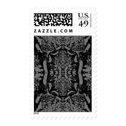 Extracto negro y gris sellos