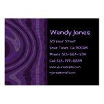 extracto negro y púrpura tarjetas de visita
