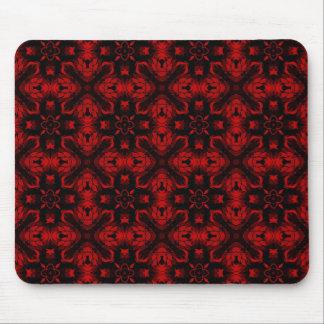 Extracto negro y rojo Mousepad del cordón Alfombrillas De Raton