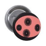 extracto negro y rosado del punto del fondo pins