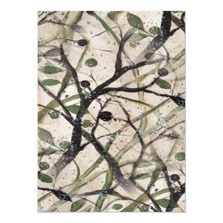 Extracto negro y verde de Digitaces del olivo Invitación 13,9 X 19,0 Cm