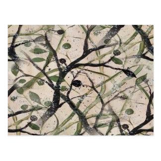 Extracto negro y verde de Digitaces del olivo Postales