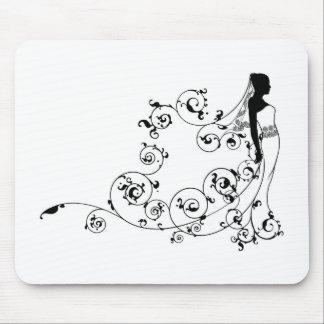 Extracto nupcial de la silueta del vestido de la tapete de ratones