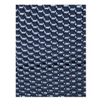 Extracto octagonal en azul tarjetas postales
