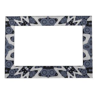 Extracto ondulado azul blanco foto de imanes
