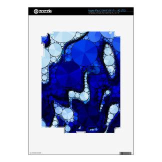 Extracto ondulado blanco azul pegatinas skins para iPad 3