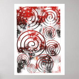 Extracto original el poster negro/rojo/blanco supe