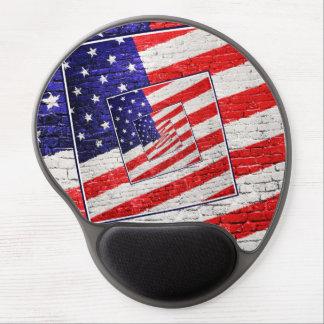 Extracto patriótico de la bandera americana alfombrilla con gel