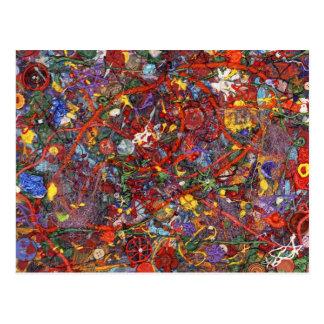Extracto - pintura de la tela - cordura postales