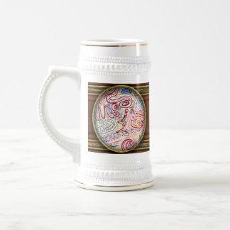 Extracto - pintura de la tela - sociedad urbana taza de café