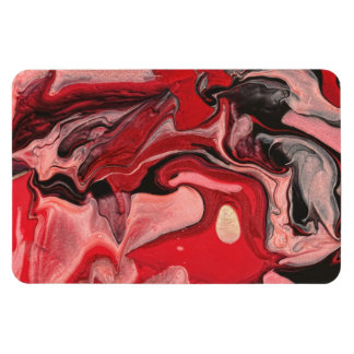 Extracto - pintura - nebulosa de la frambuesa imán de vinilo