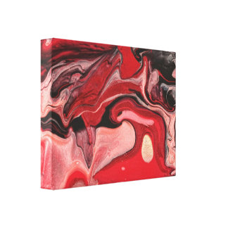 Extracto - pintura - nebulosa de la frambuesa lona envuelta para galerias