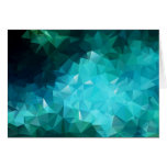 Extracto poligonal del Aquamarine Tarjeton