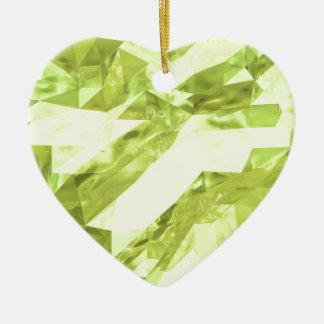Extracto polivinílico bajo adorno navideño de cerámica en forma de corazón