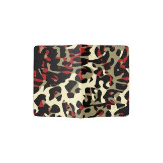 Extracto poner crema negro rojo del guepardo porta pasaporte