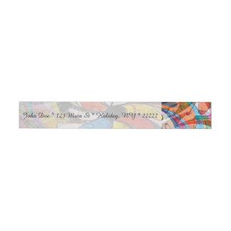 Extracto primario floral colorido etiquetas envolventes de dirección