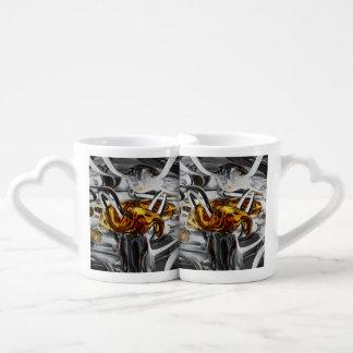 Extracto profundamente arraigado set de tazas de café