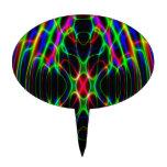 Extracto psicodélico de la luz laser del neón figuras para tartas