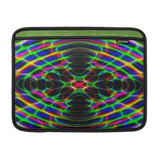 Extracto psicodélico de neón de la luz laser fundas macbook air
