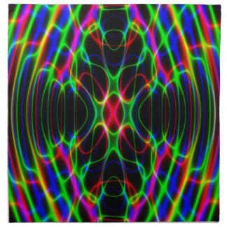 Extracto psicodélico de neón de la luz laser servilletas de papel