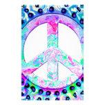 Extracto psicodélico del signo de la paz  papeleria
