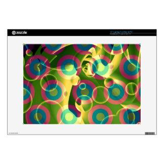 Extracto psicodélico fresco loco del arco iris calcomanías para portátiles