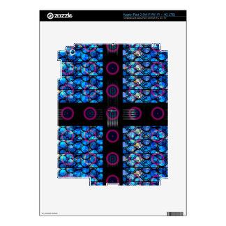 Extracto púrpura azul del círculo de Bling Pegatinas Skins Para iPad 3