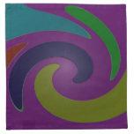 Extracto púrpura colorido del arte pop servilletas imprimidas