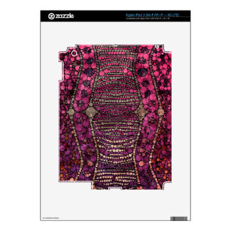 Extracto púrpura de Bling de las rosas fuertes Pegatina Skin Para iPad 3