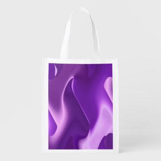 Extracto púrpura de la llama bolsas reutilizables