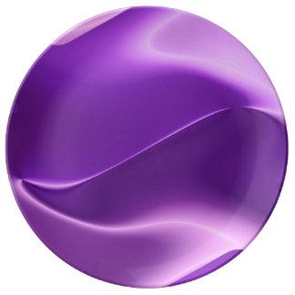 Extracto púrpura de la llama platos de cerámica