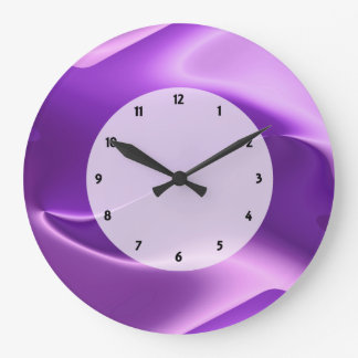 extracto púrpura de la llama reloj redondo grande