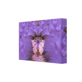 Extracto púrpura de la mariposa impresiones en lienzo estiradas